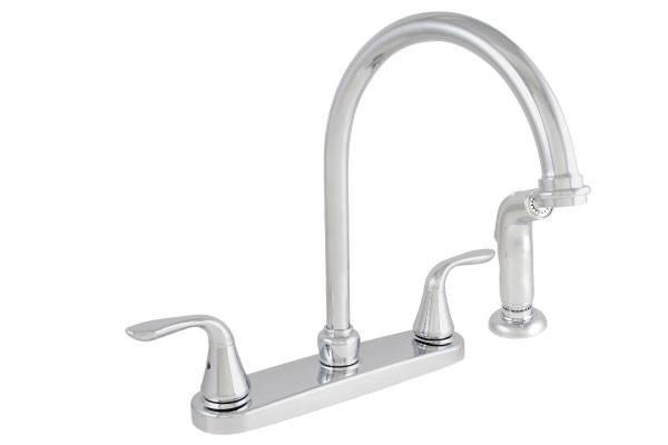 cUPC Double Handle Kitchen Faucet