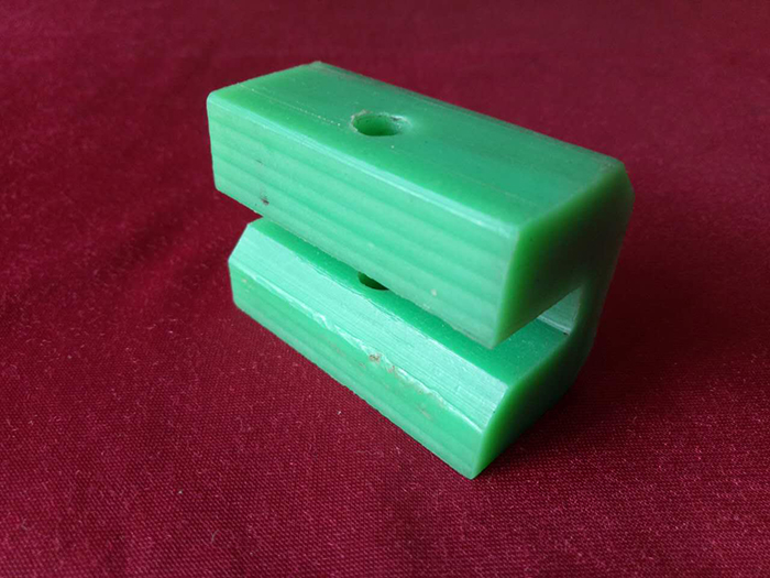 Green Custom Plastic Parts Hard Plastic Block Self Lubrication Slider Block