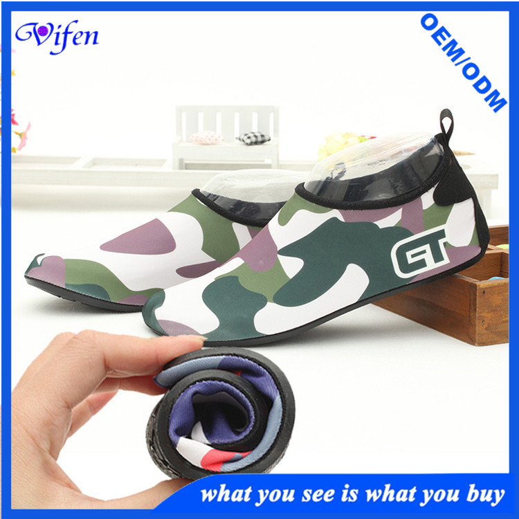 camo color satety shoes for water sports beach shoes with rubber sole shoes wholesale