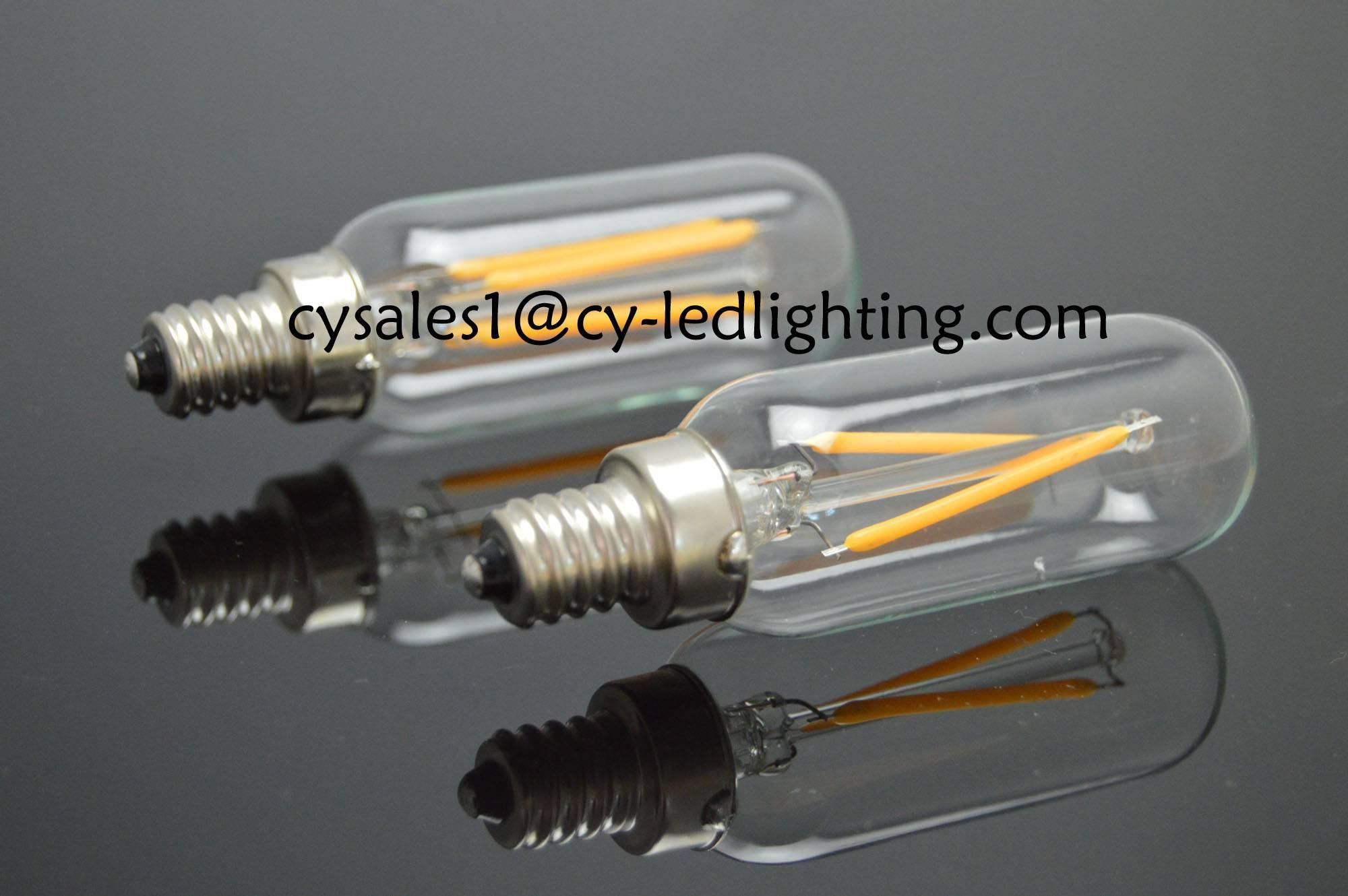 T25 small tube filament led bulb E12 E14 2W 4W