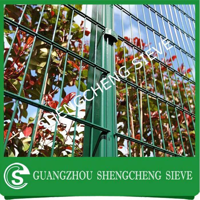Galvanized steel powder coated double welded wire mesh fence decorative garden fence panels