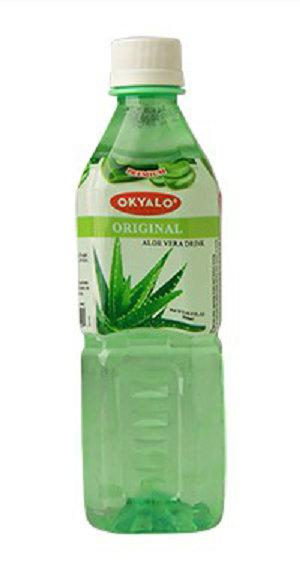 Original Aloe Vera Juice with Pulp Okeyfood in 500ml Bottle