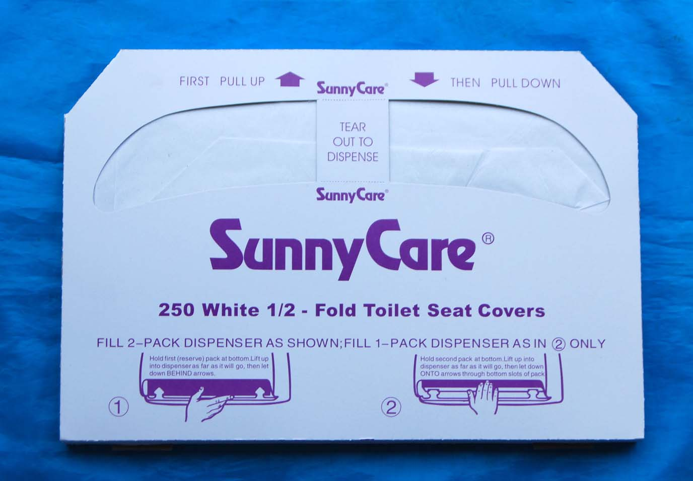 Flushable 1/2 Fold Toilet Seat Cover