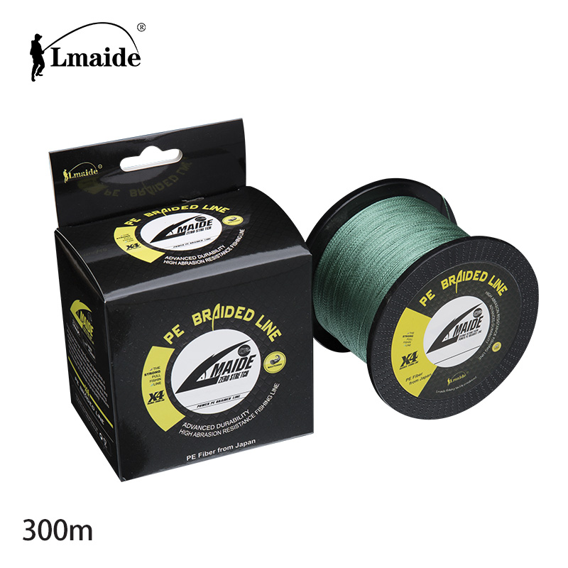300 m Wholesale price Super Strong fishing line PE braided wire 4x braided fishing line 15lb - 90lb