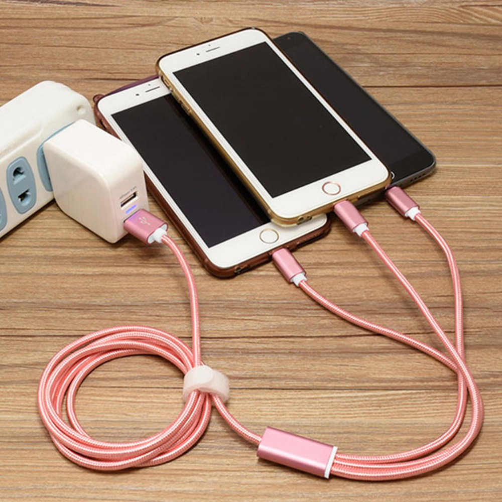 Multiple 3 In 1 USB fast Charging Cable