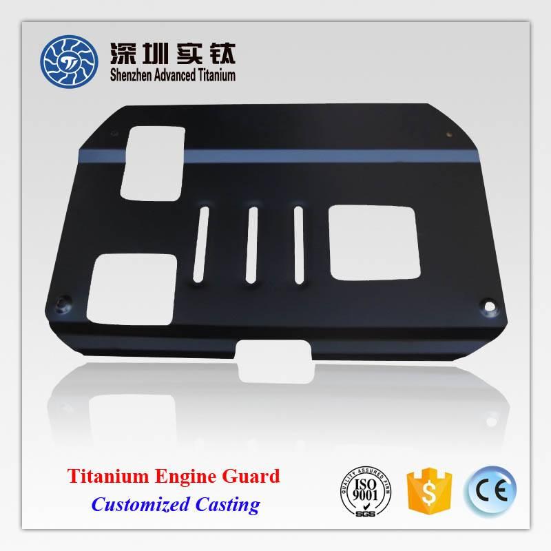 Titanium car/ automobile engine protect cover, hood, plate