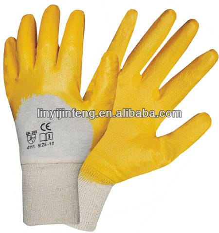 nitrile palm coated garden gloves safety hand protect gardening gloves