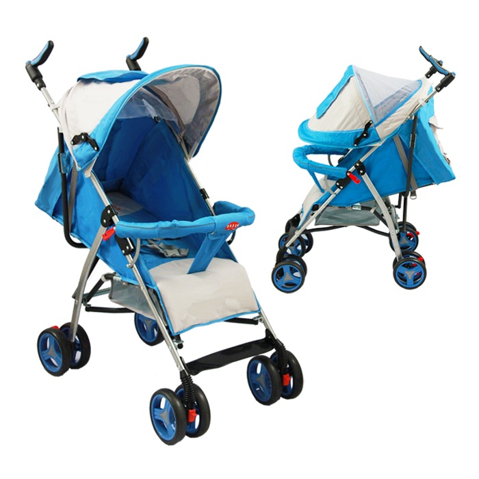 Full-back version baby stroller blue color  CZ-XYY-06