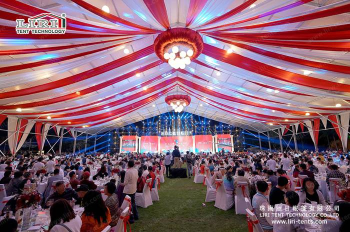 5000 people seater capacity wedding tents with decoration