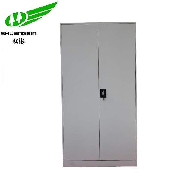 Full height customized grey color steel storage cabinet