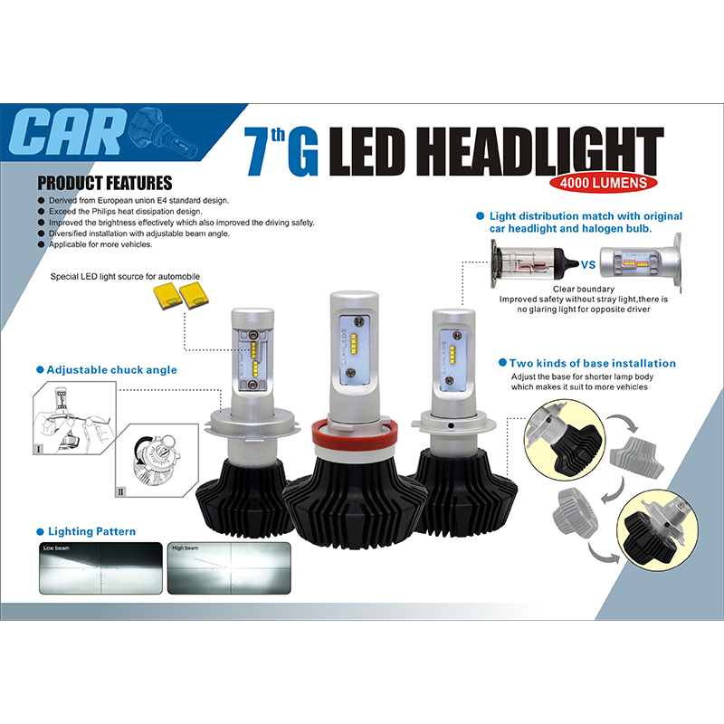 Wholesale 7g series High power car LED head light with 8000lm 12v 24v car led kits