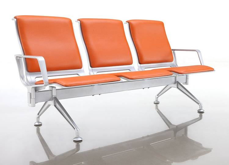 Best design Soft PU cushion of Passenger terminal seats for waiting area