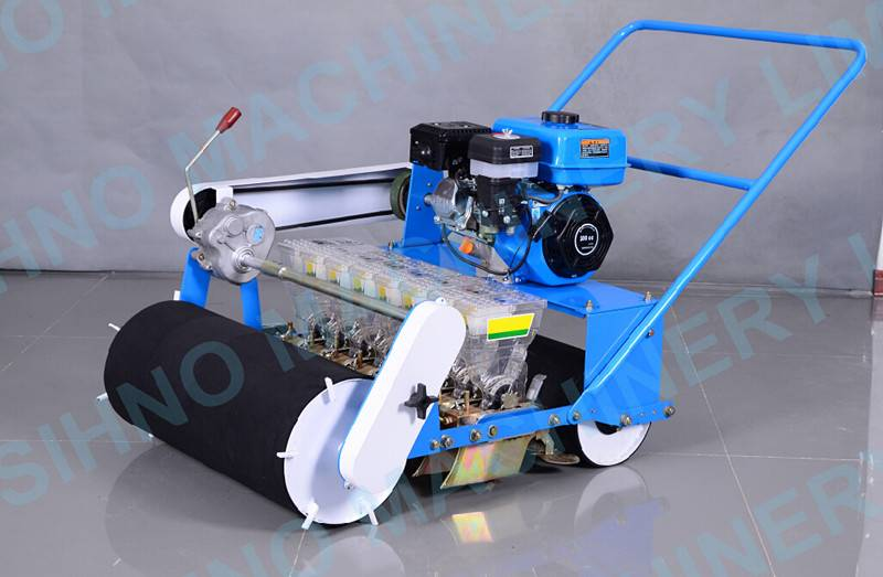 Gasoline engine New design manual 8 rows vegetable seeder, vegetable walker machine+8618006107858