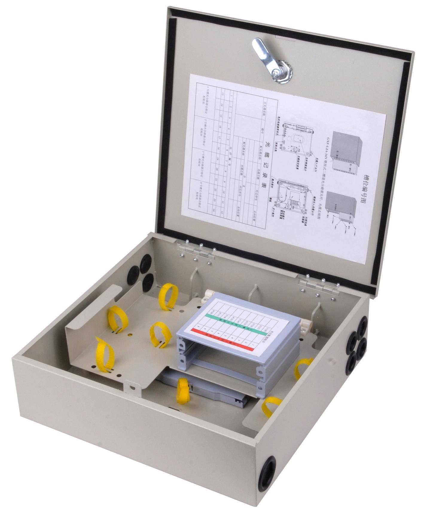 outdoor/indoor FTTH Fiber optic Distribution box 16core Metal Material