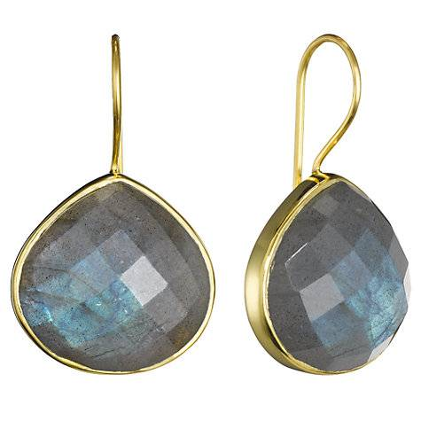 925 sterling silver Labradorite Gemstone Earring-Vermeil Gold
