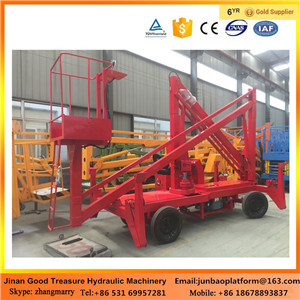 Ce 10.5 M Cherry Picker Telescopic Articulated Hydraulic Boom Lift Tables/Trailer Mounted Lift
