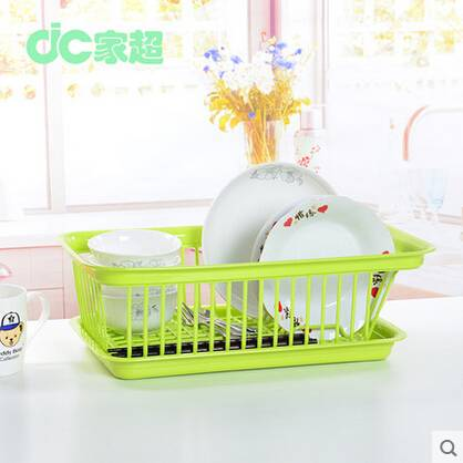 Kitchen Plastic Dish rack With Drip Tray plastic dish drainer