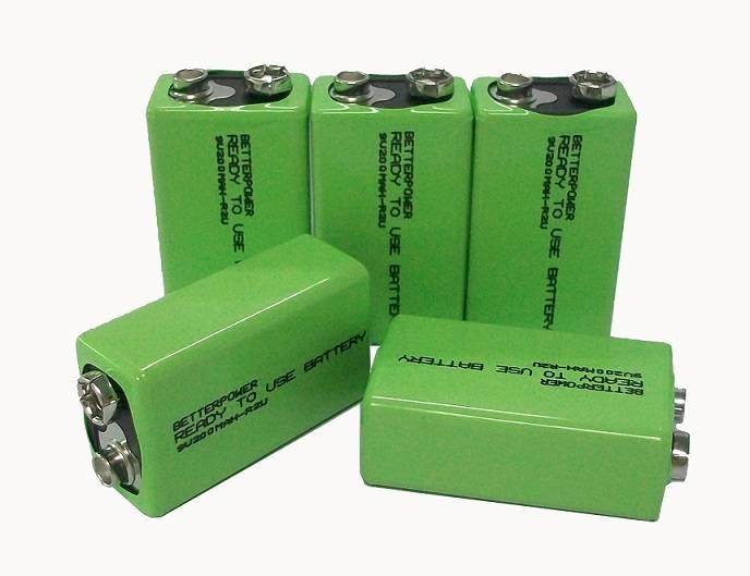 9V 160mAh 180mAh 220mAH 250mAH Nimh battery