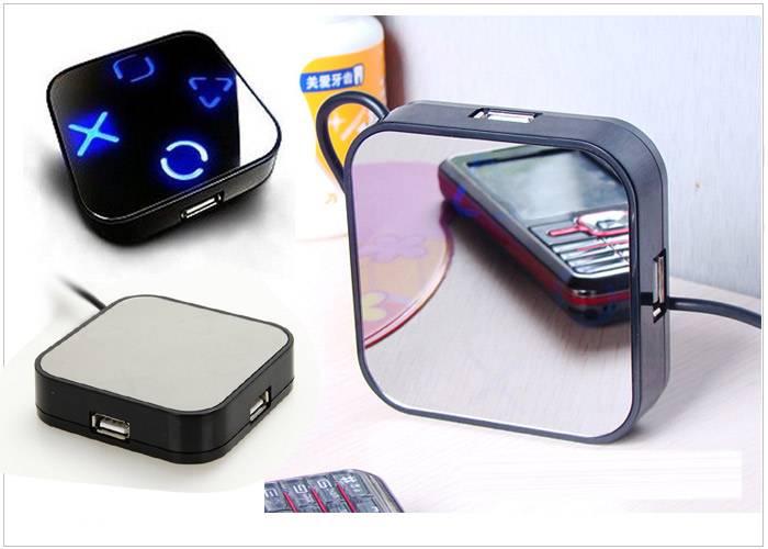 Factory wholesale Mirror USB 4 Ports HUB USB2.0 Hub