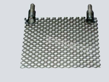 Platinum-coated titanium anode/titanium electrode