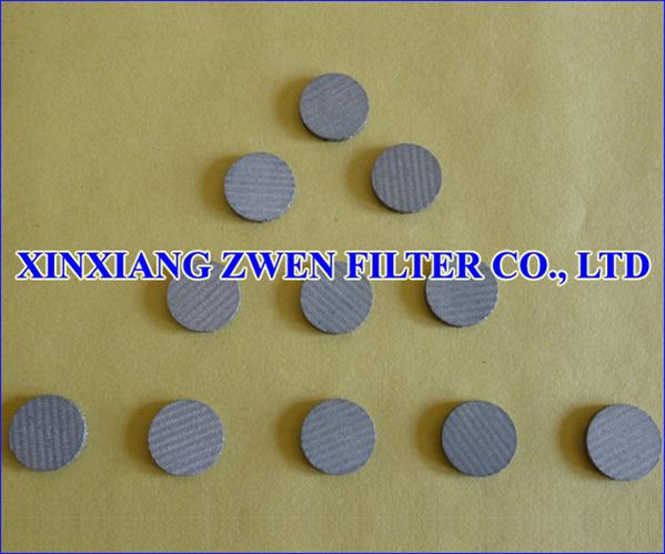 Sintered Mesh Filter Disc
