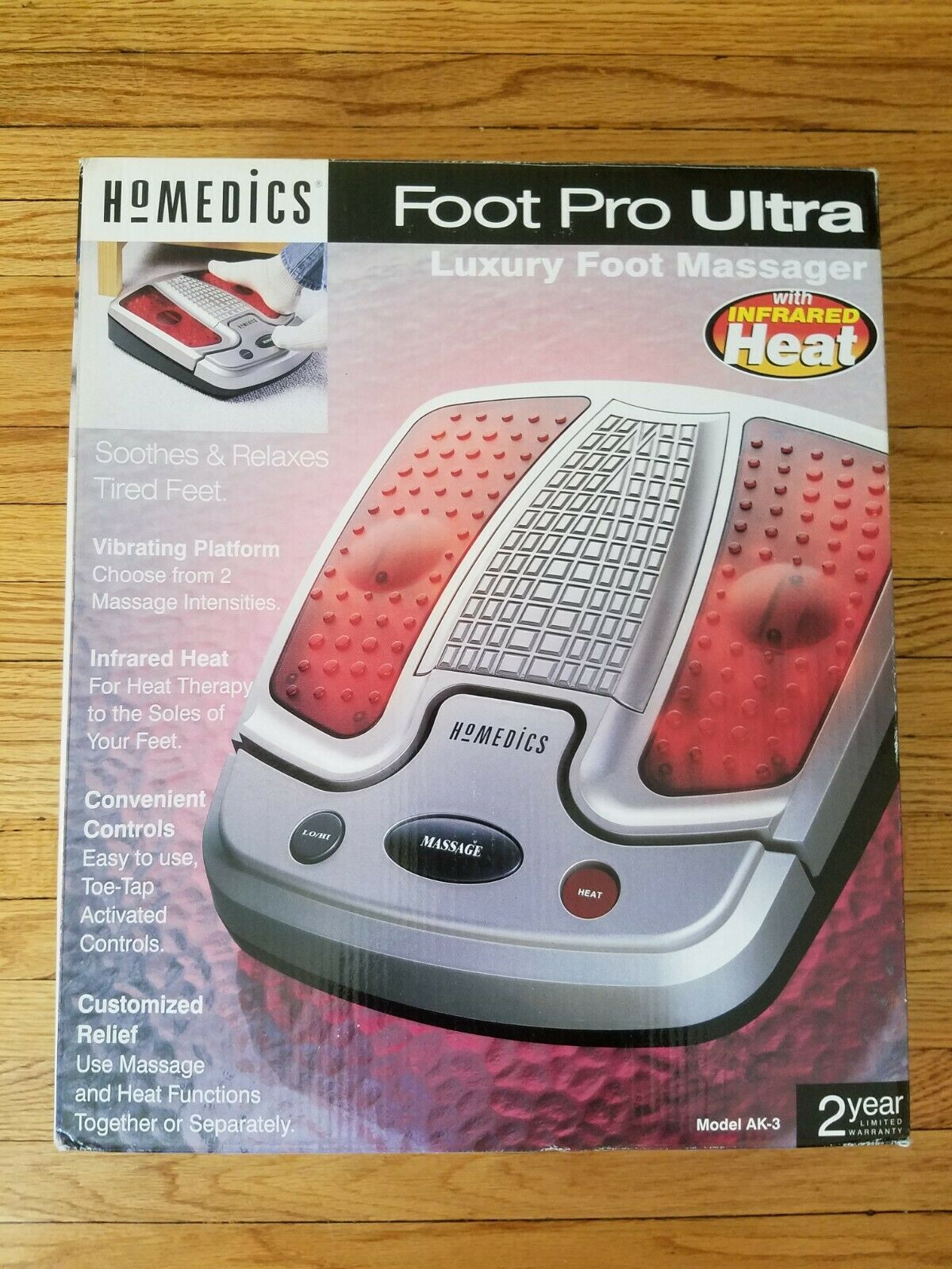 HoMedics Foot Massager Pro Ultra Luxury w/ Infrared Heat 2 Speed AK-3 NEW In Box