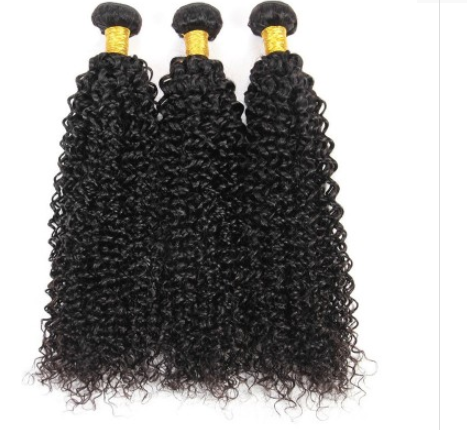 [8A]3 Bundles Indian Hair Weave Kinky Curly with 360 Lace frontal