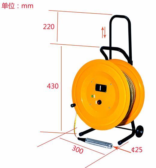 100m Small Diameter Probe Sensor Water Level Meter