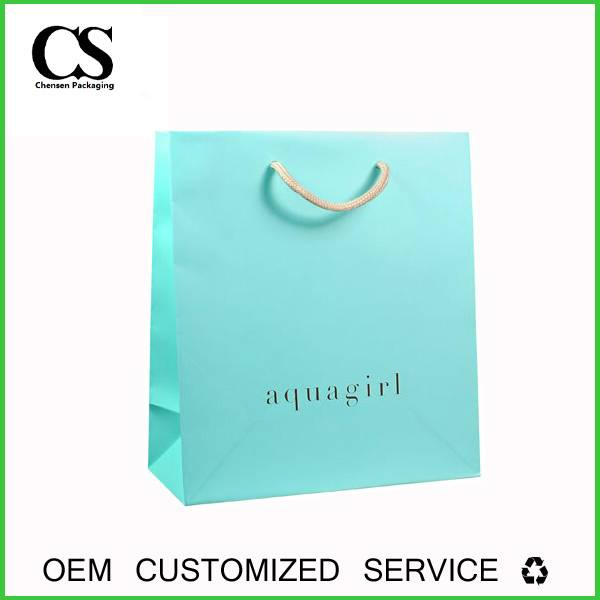 custom printed packaging paper bag for jewerly