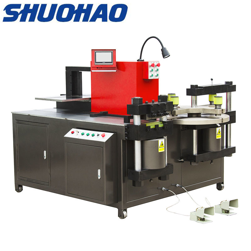 Copper busbar bending machine Electric hydraulic hole puncher
