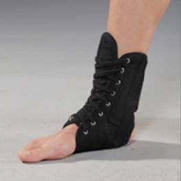 clyl lace up with plastic ankle brace