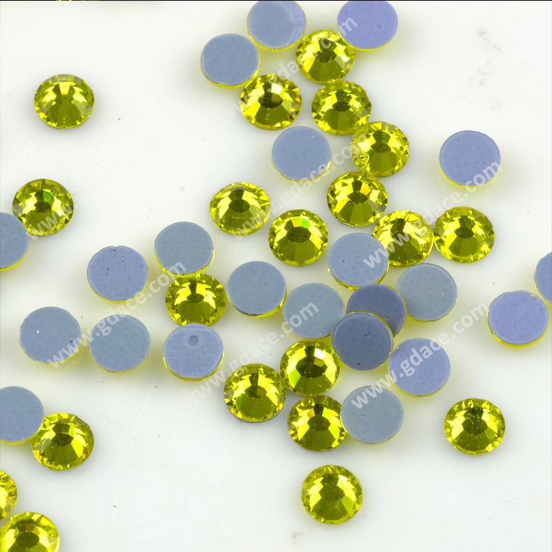 Wholesale hot fix technics crystal beads, iron on stones, assorted colors and sizes hotfix crystals