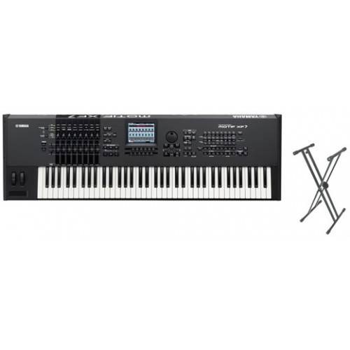 Yamaha Motif XF7 76-Key Keyboard Synth Package - with Free Keyboard Stand