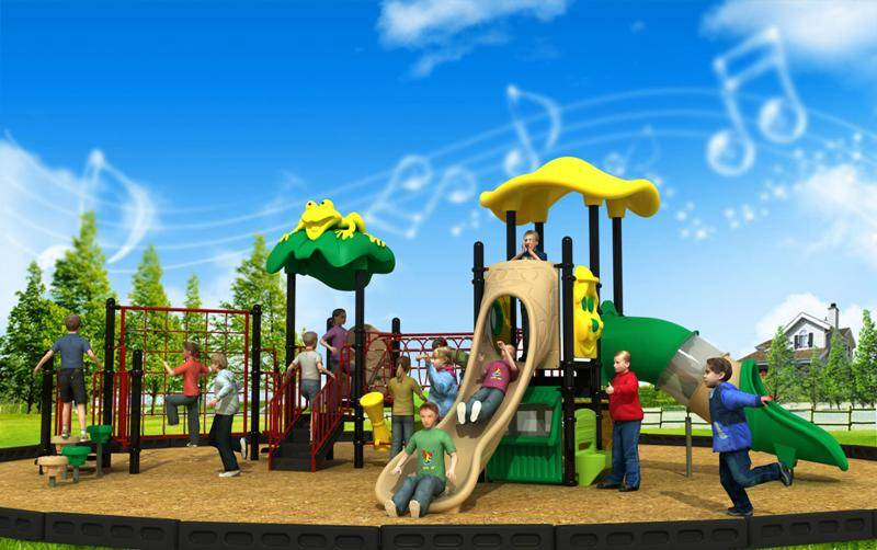Popular Cartoon Series Playground Equipment Outdoor Combined Slide WD-CR181