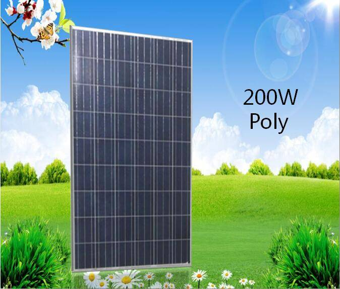 full certificate and high efficiency 200w poly solar panel