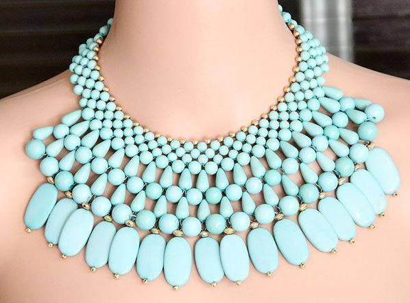 Hot Sale High Quality Fashion Handmade Chunky Multi layered Beads Necklace
