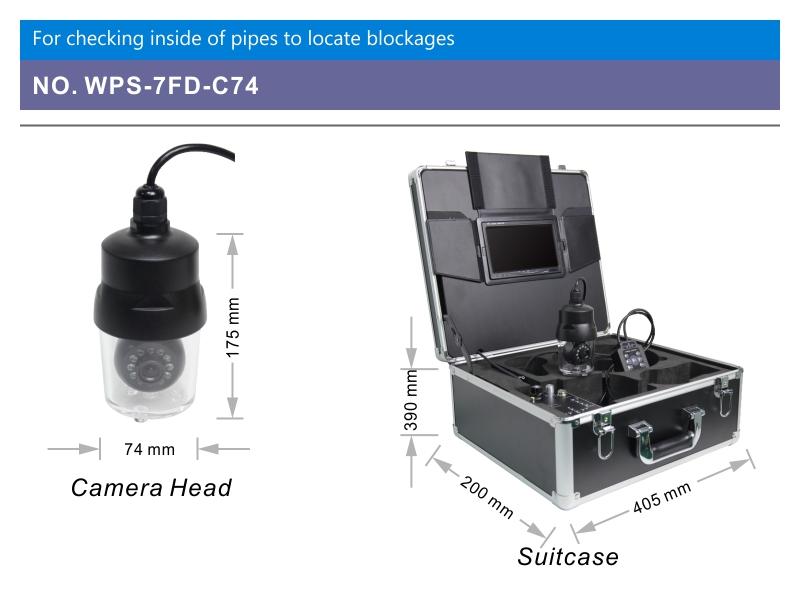 WOPSON 360 rotation underwater inspection camera underwater 60m
