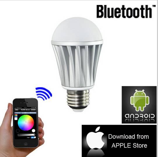 E27 Bluetooth Control Smart LED RGB Color Bulb Light Lamps