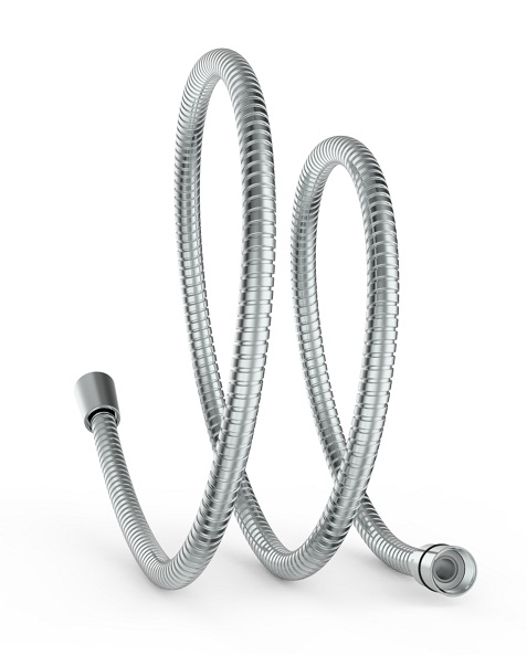 Stainless steel hose with double locks