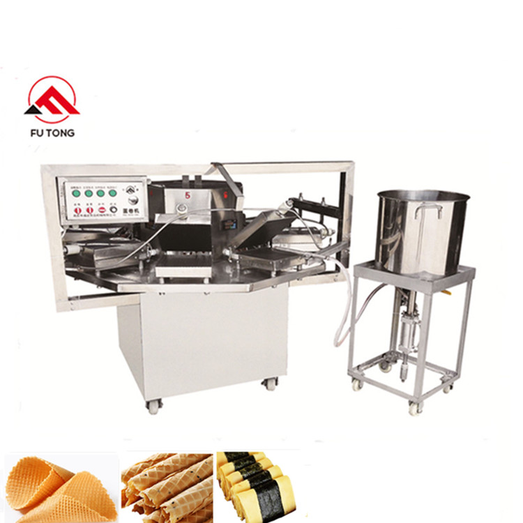 Commercial Ice Cream Sugar Cone Making Machine Crispy Egg Roll Maker Italy Pizzelle Cookie Machine