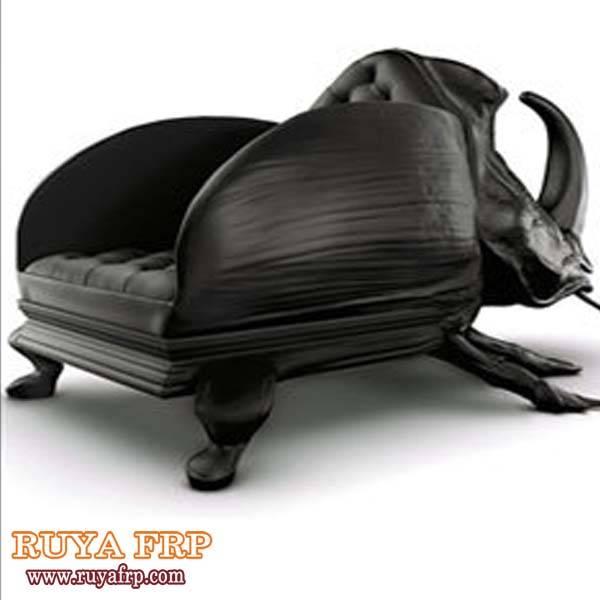 Garden chair decoration,beetle chair design fiberglass furniture China supplier designer