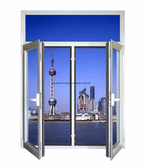 Aluminum Casement Window with Reflected Glass/Aluminium Windows (NH50)