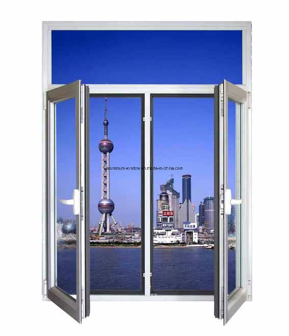 Aluminum Casement Window with Reflected Glass/Aluminium Windows (NH50)