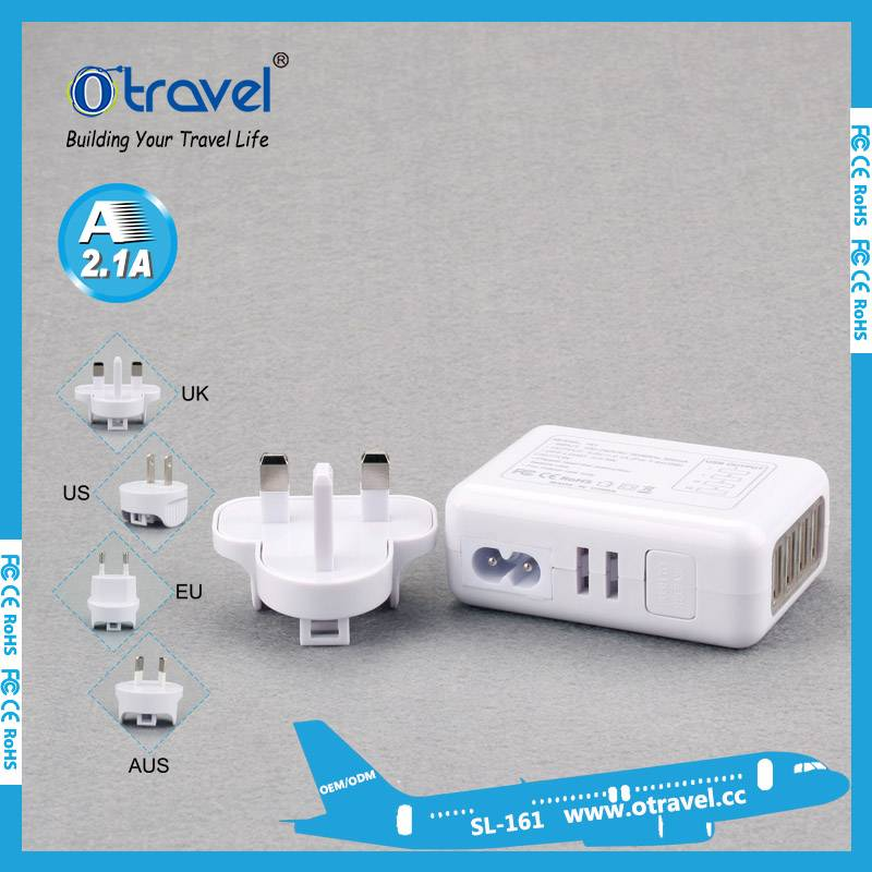 Otravel International travel adapterwith four usb output 5.4A