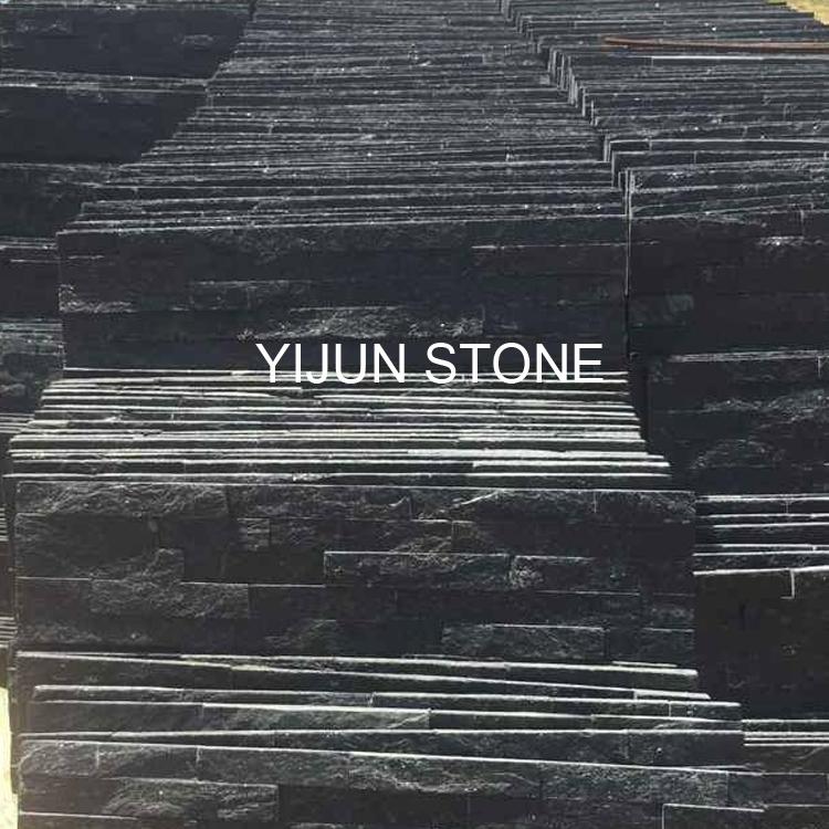 YIJUN STONE/ Black stone tiles/ Fireplace stone/ TV wall stone
