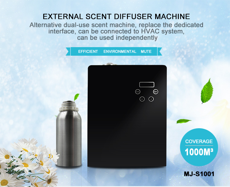 2017 Newest style ultrasonic diffuser hvac scent essential oil aroma diffuser