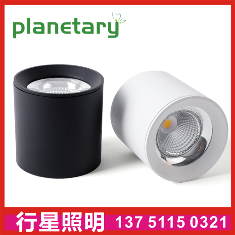 COB surface mounted hotel downlight round black white 30w5w7w9w surface mount hotel spotlight