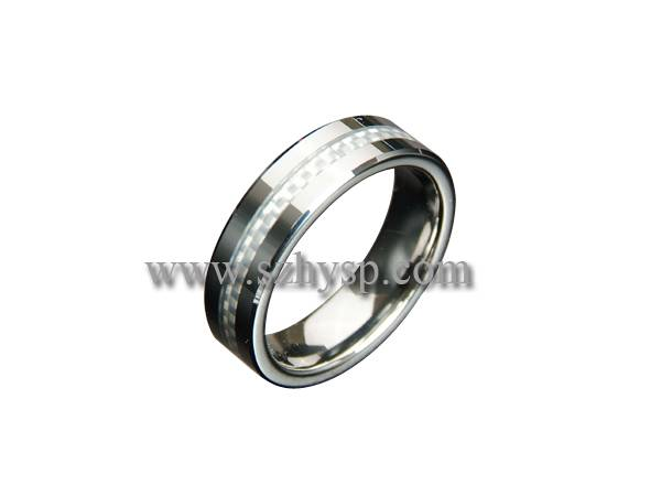 Tungsten Ring RICF002(carbon fiber inlaid)