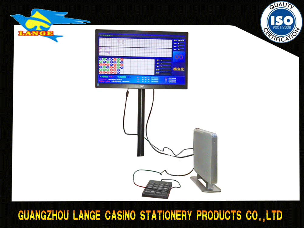 Electronic Baccarat System Casino Computer With LCD Screen
