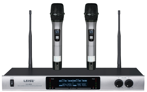 LS-802 Dual Channel UHF wireless microphone